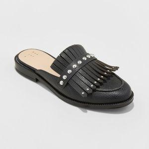 A New Day Karoline Backless Loafer Mules Black